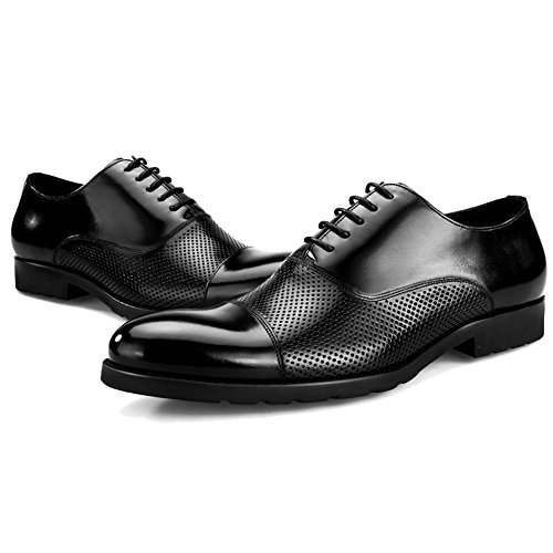 Con La Formale Leather A Da Real Da MERRYHE Oxford Black Mesh Sandalo Punta Festa Uomo Per Lavoro Punta Nuziale Scarpe Hole TPT7nqBw