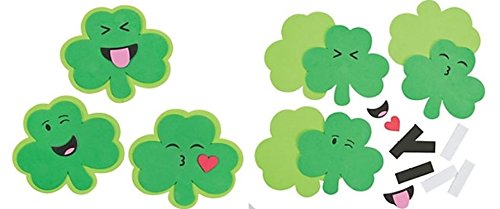 12 - Shamrock emoji face Craft kits