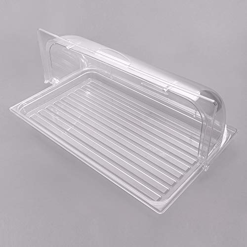 Sample and Display Tray Kit with Clear Polycarbonate Tray and Roll Top Cover - 12'' x 20'' By TableTop King by TableTop King (Image #1)