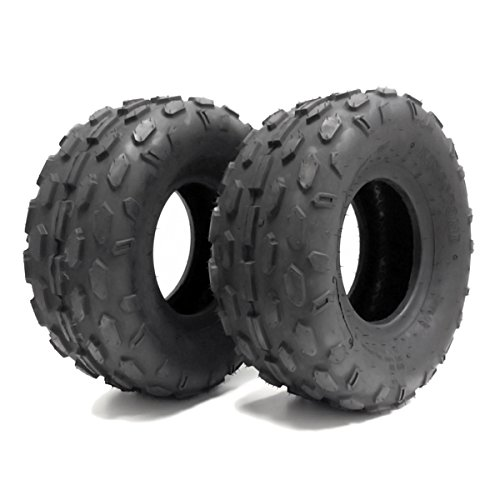 SET OF TWO: ATV Tubeless Tires 145x70-6 (14.5x7x6) P72 - Front or Rear - for HYOSUNG, KASEA, KAZUMA, LEM, LRX Small ATV w 6'' Rims by MMG