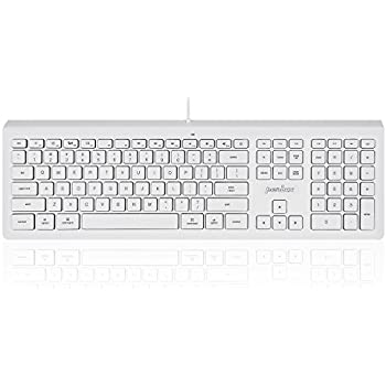 perixx periboard 323 wired backlit keyboard compatible for mac os x full size. Black Bedroom Furniture Sets. Home Design Ideas