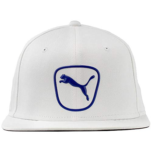PUMA Golf- Cat Patch 2.0 Snapback Cap, White/Surf The Web