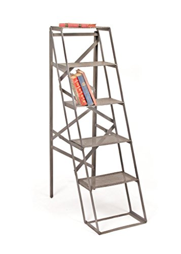 - Industrial Ladder Shelf , Grey Metal
