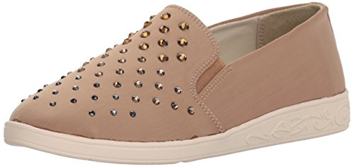 Soft Style by Hush Puppies Womens Pran Loafer Taupe Fabric
