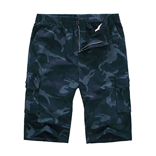 Men 's Cargo Shorts,Male Summer Casual Breathable Muti Pockets Camouflage Plus Size Loose Beach Pants