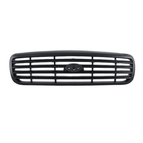 Grille Matte Black Bar Style Police Interceptor Sedan 4-Dr, 400-18980 FO1200379 XW7Z8200AAA (2000 Ford Crown Victoria Police Interceptor)