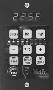 Pellet Pro PID Pellet Grill Controller for Traeger,Pit Boss,Camp Chef,Pellet Pro w/ Adapter from legendary Smoke Daddy Inc