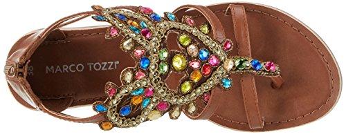 Marco Tozzi 28150, Sandalias con Cuña para Mujer Multicolor (Multicolour 990)