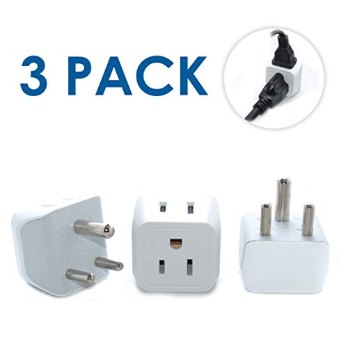 Ceptics USA to India Travel Adapter Plug - Type D  - Dual In