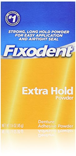 Fixodent Denture Adhesive Powder, Extra Hold - 1.6 Oz