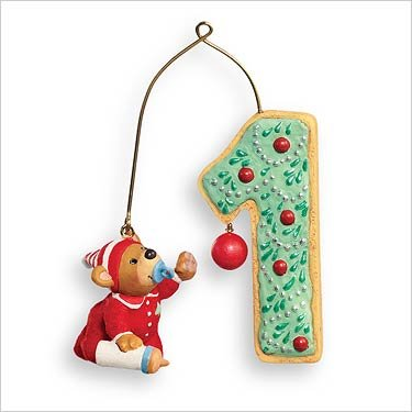 QXG6289 My First Christmas Child's Age Collection 2007 Hallmark Keepsake (2007 Christmas Tree Ornament)