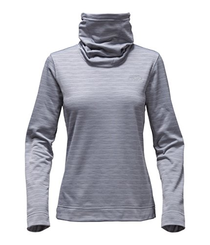 (The North Face Women's Novelty Glacier Pullover Mid Grey Stria Large)