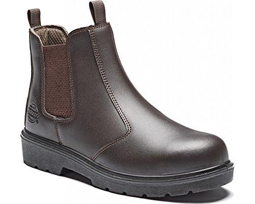Dickies Mens Work Safety Steel Toe Cap Midsole Leather Dealer Boots Negro - negro