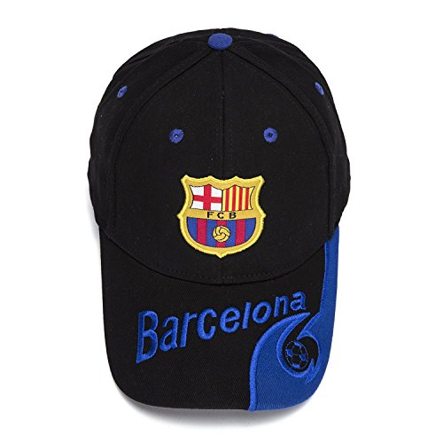 FOOT-ACC Barcelona Soccer Cap Hat New Season 2017-2018 Great Hat with Embroidered Authentic Black Baseball Cap by FOOT-ACC