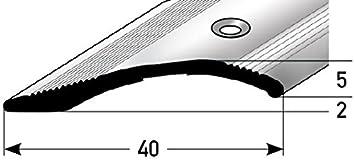 Altura de igual 2-16mm - 40mm ancha - 100cm perforado Incl. Espiga y Tornillos - Aluminio anodizado - oro acerto24