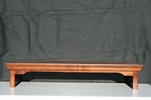 Traditional Wide Tv Stand - TV/Monitor Riser Stand Traditional Style in Alder Wood (26