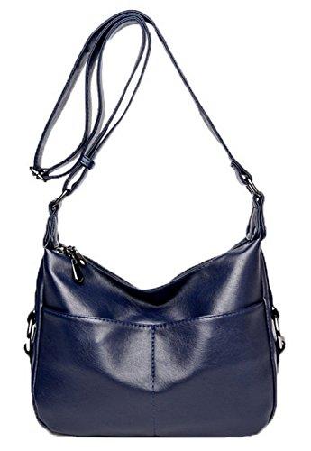 Des bandoulière sacs VogueZone009 Sacs Femme Zippers Cuir Bleu CCAFBP180965 à Pu Décontractée Foncé Mode qpTwYg