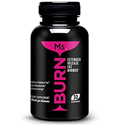Ms. Burn - #1 Fat Burner For Women ! Thermogenic Weigh Loss Supplement. Contains PROVEN fat burning ingredients ALL IN ONE CAPSULE - Diet Pills With Powerful Results for Burning Stubborn Fat - Clinically Dosed for Maximum Effectiveness
