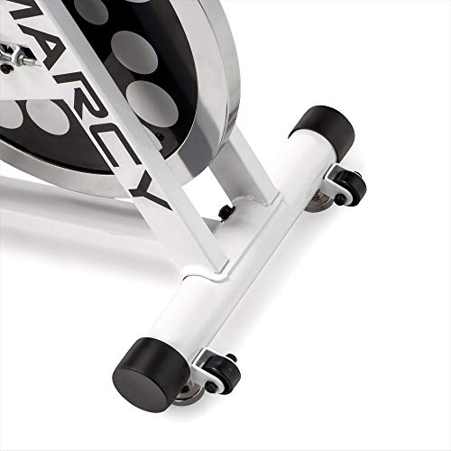 Marcy XJ-5801 Club Revolution Indoor Home Gym Exercise Bike Trainer, White/Black by Marcy (Image #1)