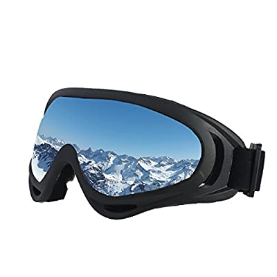 SiFREE UV Protective Ski Goggles with Windproof Dustproof Anti-shock for Snowboard Snowmobile Bicycle Motorcycle