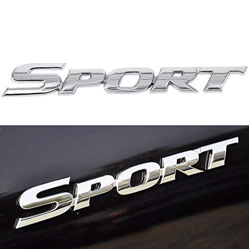 XYGGOO 3D Silver SPORT Logo Car Sticker Emblem ABS Plating Chrome Door Rear Trunk Badge