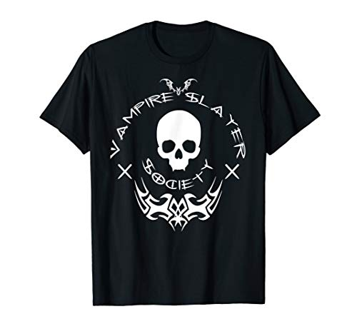 Vampire Slayer Society - Halloween Vamp Hunter Shirt w/font