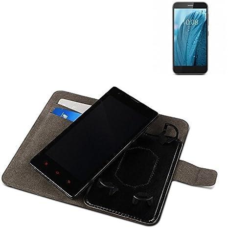 Carcasa Case para ZTE Blade A512, Wallet Case, Negro. Funda ...