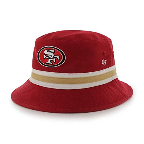 fcc1dd707 San Francisco 49ers Striped Bucket Hat – Football Theme Hats