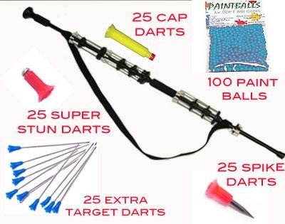 Avenger Warrior Blowgun- Combat Package- Over 160 Darts Plus Paintballs … from HickMart