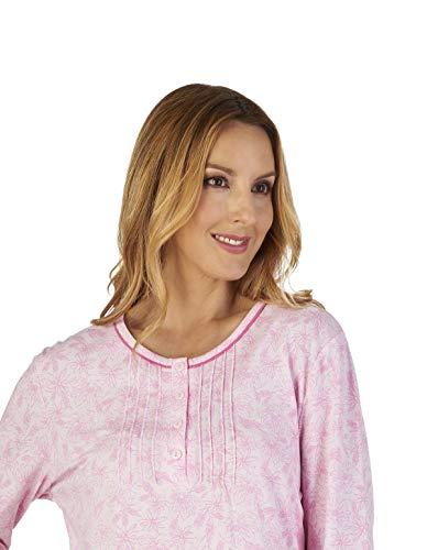 Loungewear Nightdress Night Slenderella Gown Jersey Women's Pink Floral Nd2106 Meadow qx80XHRw