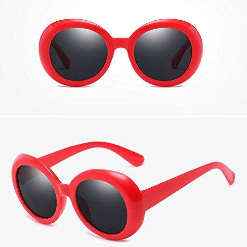soleil Red Round Style lunettes Protection amp;gray à Mode for Qualité 400 Women UV Men Étui Zhhlinyuan Unisex lunettes Sunglasses de wUgqXSUE5x