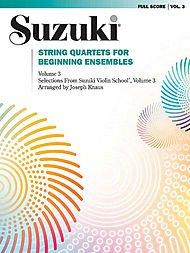 Beginning String Ensembles Quartets - Alfred Suzuki String Quartets for Beginning Ensembles Volume 3 (Book)