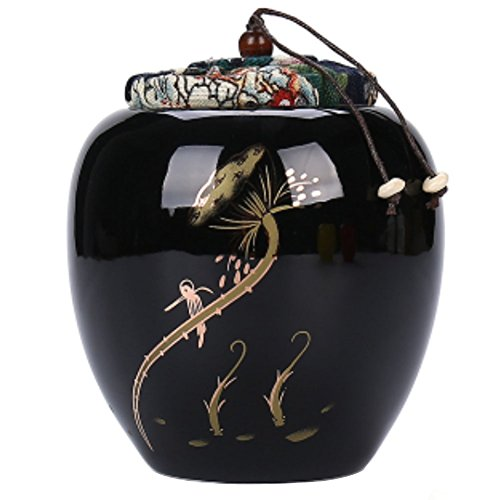 LUNA Japanese Ceramics Tea Canister Traditional Tea Caddy (A44) by LUNA