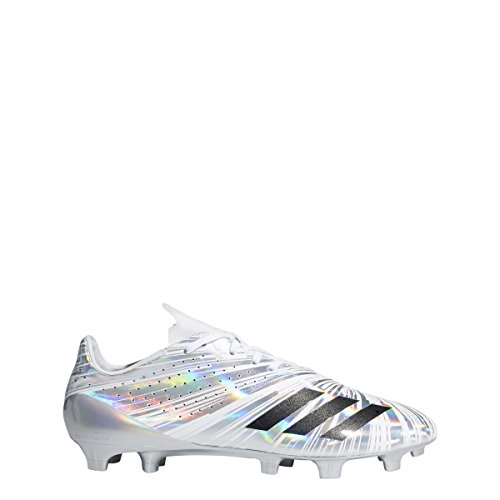 Adidas 5star 40 Cleat Mens Argento Calcio Metallizzato Nero-bianco