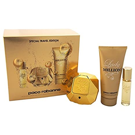 Amazon.com: Paco Rabanne Lady million fragancia set para las ...