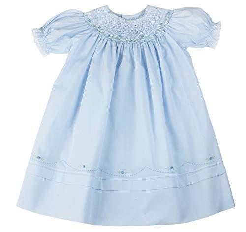 (Girls Blue Smocked Portrait Bishop Dress Feltman Brothers (24M))