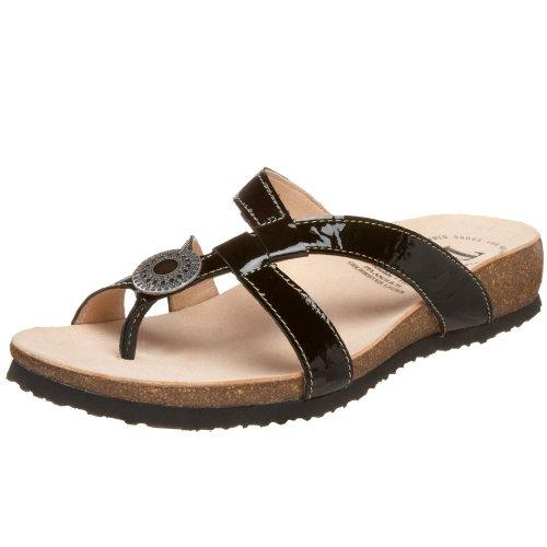 Julia Thong - Think! Women's Julia 82767 Thong Sandal,Black Patent,40 M EU/9 B (M) US
