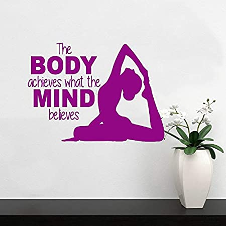 xingbuxin Tatuajes de Pared Fitness Yoga Girl Vinilo ...