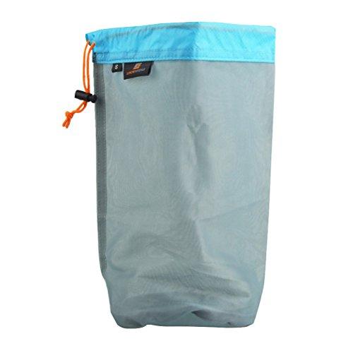 VORCOOL Ultra Light Polyester Mesh Storage Bag Stuff Sack for Tavel Camping – Size S (Sky Blue)