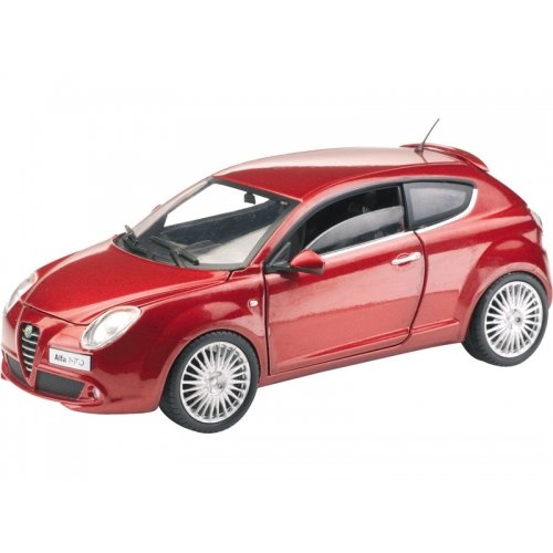 Mondo Motors Alfa Romeo Mito in Metallic Red (1:24 scale) Diecast Model - Mondo Motors