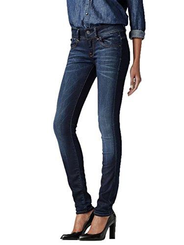 G-Star Damen Jeans Lynn Mid Waist Skinny Fit - Blau - Medium Aged, Größe:W 34 L 30;Farbe:Medium Aged (071)