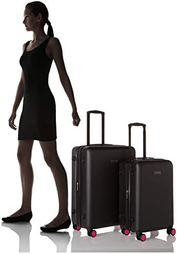 "Vera Bradley Hardside Rolling Suitcase Luggage, Black, 26"" Check In"