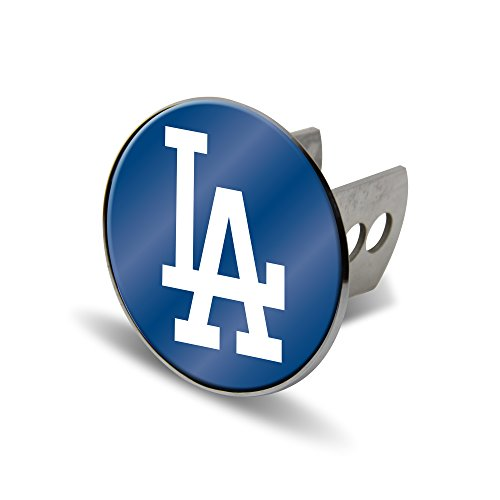Rico MLB Los Angeles Dodgers Laser Cut Metal Hitch Cover, Large, - Cover Hitch Mlb Trailer