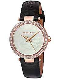 Michael Kors Women's Quartz Stainless Steel and Leather Automatic Watch, Color:Black (Model: MK2591)