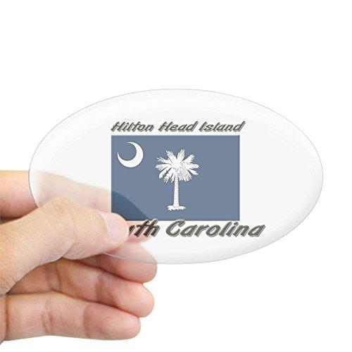 CafePress Hilton Head Island South Carolina Oval Sticker Oval Bumper Sticker, Euro Oval Car Decal