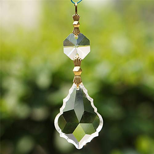- Bead Connector Ring Hanging | Pendants | Leaf Shape/Chandelier/Prisms with 4mm Octagon 38mm