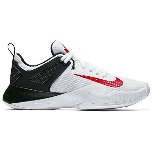 9ee131674d8e5 Galleon - NIKE New Women s Air Zoom Hyperace Volleyball Shoe White Red Black  6
