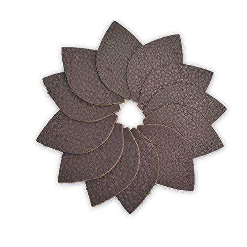 "12pk-Leather Leaf Small Die Cut /""Butterlicious/"" Sassy Seal Brown DIY Earrings"