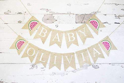 Watermelon Baby Personalized Banner | Summer Baby Shower or Gender Reveal Party Décor