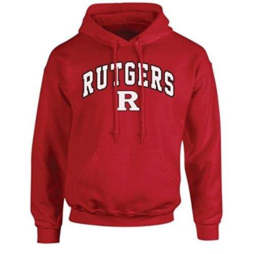 Elite Fan Shop NCAA Men's Rutgers Scarlet Knights Hoodie Sweatshirt Team Color Arch Rutgers Scarlet Knights Scarlet Large